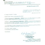 Carta de agradecimento Sefras